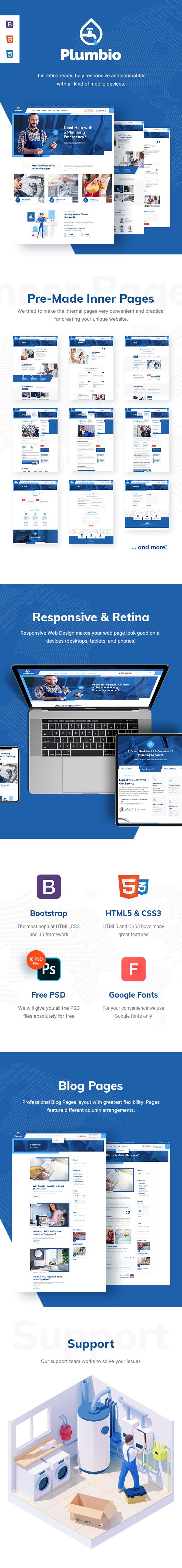 Plumbio - Plumbing Services HTML Template - 1