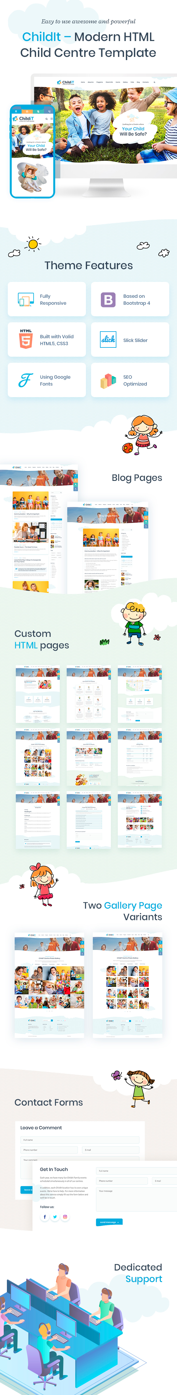 Childit - Kindergarten HTML Template - 1
